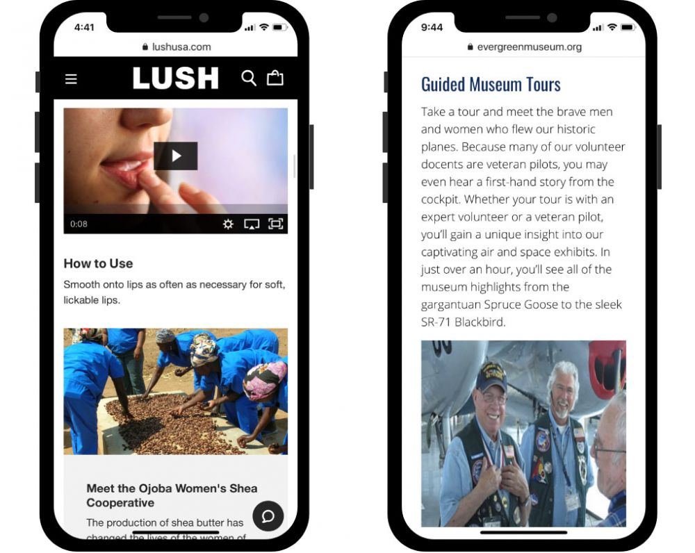 Customer Experience - LUSH - Evergreen Aviation & Space Museum - Ecommerce - Holiday Shopping