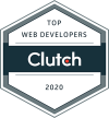 Badge for Top Web Developer Award from Clutch